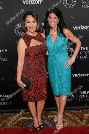 Maria Elena Salinas, left, and president and CEO of The Paley Center for Media Maureen J. Reidy attend The Paley Honors: Celebrating Women in Television at Cipriani Wall Street, in New York
