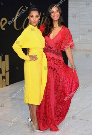 Brooklyn Sudano, left, and Amanda Sudano arrive at The Panthere De Cartier Party, in Los Angeles