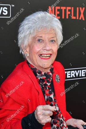 Stock Photo of Charlotte Rae attends The Power of TV: A Conversation with Norman Lear and One Day at a Time, presented by the Television Academy Foundation and Netflix in celebration of the Foundation's 20th Anniversary of THE INTERVIEWS: An Oral History Project, on in the Wolf Theatre at the Saban Media Center in North Hollywood, Calif