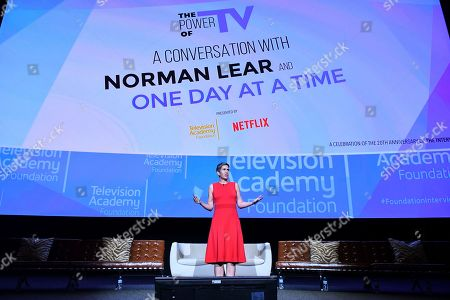 Stock Photo of Heather Cochran takes part in The Power of TV: A Conversation with Norman Lear and One Day at a Time, presented by the Television Academy Foundation and Netflix in celebration of the Foundation's 20th Anniversary of THE INTERVIEWS: An Oral History Project, on in the Wolf Theatre at the Saban Media Center in North Hollywood, Calif