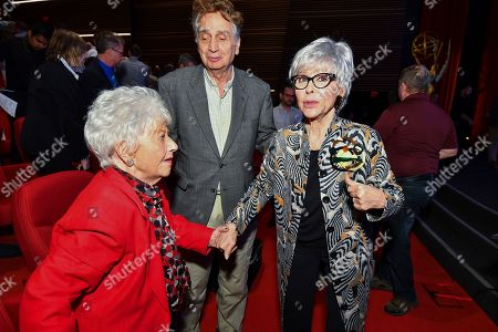 Charlotte Rae and Rita Moreno attend The Power of TV: A Conversation with Norman Lear and One Day at a Time, presented by the Television Academy Foundation and Netflix in celebration of the Foundation's 20th Anniversary of THE INTERVIEWS: An Oral History Project, on in the Wolf Theatre at the Saban Media Center in North Hollywood, Calif