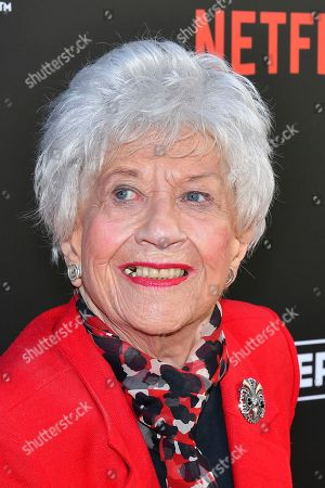 Charlotte Rae attends The Power of TV: A Conversation with Norman Lear and One Day at a Time, presented by the Television Academy Foundation and Netflix in celebration of the Foundation's 20th Anniversary of THE INTERVIEWS: An Oral History Project, on in the Wolf Theatre at the Saban Media Center in North Hollywood, Calif