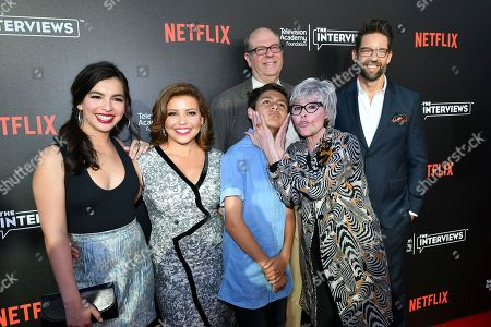 Isabella Gomez, from left, Justina Machado, Marcel Ruiz, Stephen Tobolowsky, Rita Moreno and Todd Grinnell attend The Power of TV: A Conversation with Norman Lear and One Day at a Time, presented by the Television Academy Foundation and Netflix in celebration of the Foundation's 20th Anniversary of THE INTERVIEWS: An Oral History Project, on in the Wolf Theatre at the Saban Media Center in North Hollywood, Calif