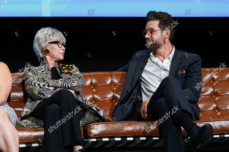 Rita Moreno and Todd Grinnell take part in The Power of TV: A Conversation with Norman Lear and One Day at a Time, presented by the Television Academy Foundation and Netflix in celebration of the Foundation's 20th Anniversary of THE INTERVIEWS: An Oral History Project, on in the Wolf Theatre at the Saban Media Center in North Hollywood, Calif