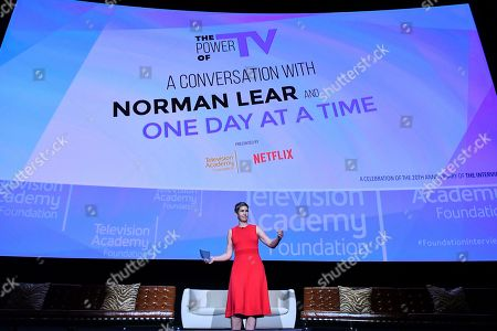 Heather Cochran takes part in The Power of TV: A Conversation with Norman Lear and One Day at a Time, presented by the Television Academy Foundation and Netflix in celebration of the Foundation's 20th Anniversary of THE INTERVIEWS: An Oral History Project, on in the Wolf Theatre at the Saban Media Center in North Hollywood, Calif