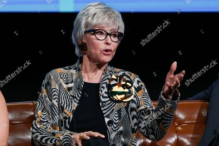 Rita Moreno takes part in The Power of TV: A Conversation with Norman Lear and One Day at a Time, presented by the Television Academy Foundation and Netflix in celebration of the Foundation's 20th Anniversary of THE INTERVIEWS: An Oral History Project, on in the Wolf Theatre at the Saban Media Center in North Hollywood, Calif