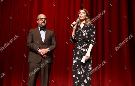 """Producer Youree Henley and Writer/Director Sofia Coppola speak at The U.S. Premiere of Focus Features """"The Beguiled"""" at Directors Guild of America, in Los Angeles"""