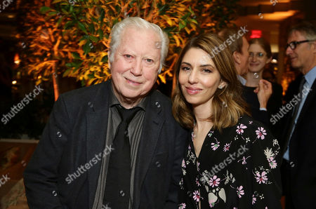 """Stock Image of Executive Producer Fred Roos and Writer/Director Sofia Coppola seen at The U.S. Premiere of Focus Features """"The Beguiled"""" after party at Sunset Tower, in Los Angeles"""