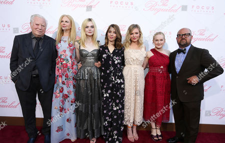 """Executive Producer Fred Roos, Nicole Kidman, Elle Fanning, Writer/Director Sofia Coppola, Kirsten Dunst, Emma Howard and Producer Youree Henley seen at The U.S. Premiere of Focus Features """"The Beguiled"""" at Directors Guild of America, in Los Angeles"""