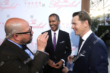 """Producer Youree Henley, Abhijay Prakash, COO of Focus Features, and Jason Cassidy, President of Marketing for Focus Features, seen at The U.S. Premiere of Focus Features """"The Beguiled"""" at Directors Guild of America, in Los Angeles"""