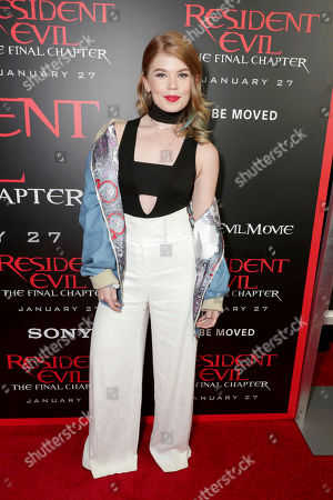 """Jody Steel seen at The World Premiere of Screen Gems' """"Resident Evil: The Final Chapter"""" at Regal LA Live, in Los Angeles"""