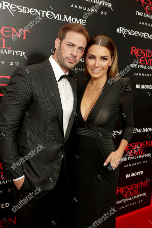 "Stock Picture of William Levy and Elizabeth Gutierrez seen at The World Premiere of Screen Gems' ""Resident Evil: The Final Chapter"" at Regal LA Live, in Los Angeles"
