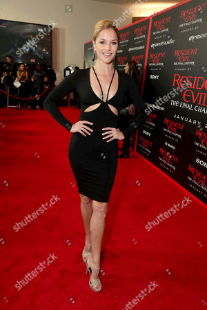 """Stock Picture of Ellen Hollman seen at The World Premiere of Screen Gems' """"Resident Evil: The Final Chapter"""" at Regal LA Live, in Los Angeles"""