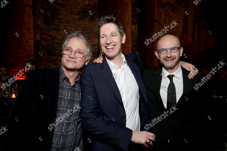 """Screen Gems President Clint Culpepper, Director/Writer/Producer Paul W. S. Anderson and Producer Jeremy Bolt seen at The World Premiere of Screen Gems' """"Resident Evil: The Final Chapter"""" after party at Regal LA Live, in Los Angeles"""