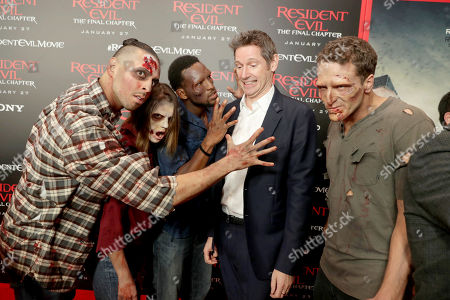 """Director/Writer/Producer Paul W. S. Anderson seen at The World Premiere of Screen Gems' """"Resident Evil: The Final Chapter"""" at Regal LA Live, in Los Angeles"""