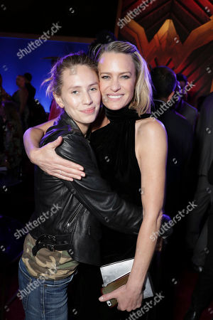 "Stock Photo of Exclusive - Dylan Frances Penn and Robin Wright seen at The World Premiere of Warner Bros. Pictures ""Wonder Woman"" at The Pantages Theatre, in Los Angeles"