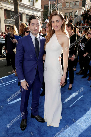 "Writer Jason Fuchs and Alexandra Siegel seen at The World Premiere of Warner Bros. Pictures ""Wonder Woman"" at The Pantages Theatre, in Los Angeles"