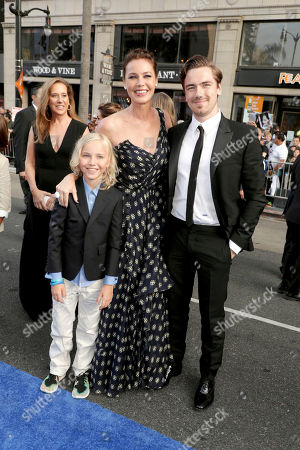 "Stock Picture of Bryce Thadeus Ulrich-Nielsen, Connie Nielsen and Sebastian Sartor seen at The World Premiere of Warner Bros. Pictures ""Wonder Woman"" at The Pantages Theatre, in Los Angeles"