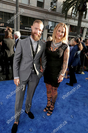 """Daniel Beijner and Madeleine Vall Beijner seen at The World Premiere of Warner Bros. Pictures """"Wonder Woman"""" at The Pantages Theatre, in Los Angeles"""