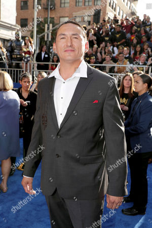"""Eugene Brave Rock seen at The World Premiere of Warner Bros. Pictures """"Wonder Woman"""" at The Pantages Theatre, in Los Angeles"""