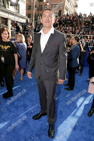 """Stock Image of Eugene Brave Rock seen at The World Premiere of Warner Bros. Pictures """"Wonder Woman"""" at The Pantages Theatre, in Los Angeles"""