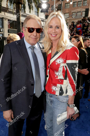"""Producer Charles Roven and Diane Nelson, President, DC Entertainment and President, Warner Bros. Consumer Products, seen at The World Premiere of Warner Bros. Pictures """"Wonder Woman"""" at The Pantages Theatre, in Los Angeles"""