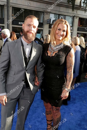 """Stock Picture of Daniel Beijner and Madeleine Vall Beijner seen at The World Premiere of Warner Bros. Pictures """"Wonder Woman"""" at The Pantages Theatre, in Los Angeles"""