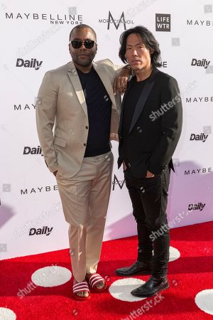 Lee Daniels, left, and Stephen Gan arrive at the Third Annual Fashion Los Angeles Awards at the Sunset Tower Hotel, in West Hollywood, Calif