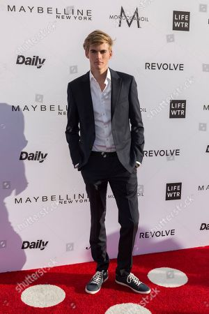 Presley Walker Gerber arrives at the Third Annual Fashion Los Angeles Awards at the Sunset Tower Hotel, in West Hollywood, Calif
