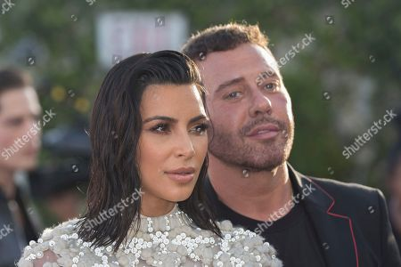 Mert Alas, right, and Kim Kardashian West arrive at the Third Annual Fashion Los Angeles Awards at the Sunset Tower Hotel, in West Hollywood, Calif