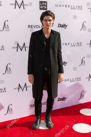 Will Peltz arrives at the Third Annual Fashion Los Angeles Awards at the Sunset Tower Hotel, in West Hollywood, Calif