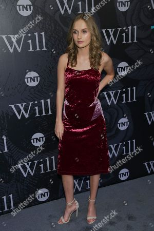 """Actress Olivia Dejonge attends TNT's """"Will"""" season premiere at Bryant Park, in New York"""