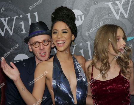 """Actors Ewen Bremner, from left, Jasmin Savoy Brown and Olivia Dejonge attend TNT's """"Will"""" season premiere at Bryant Park, in New York"""