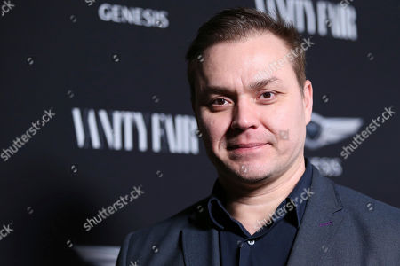 """Stock Photo of Theodore Melfi arrives at the Toast to the Cast and Filmmakers of """"Hidden Figures"""" at Spago restaurant, in Beverly Hills, Calif"""