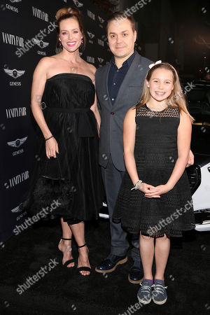 """Kimberly Quinn, left, and Theodore Melfi arrive at the Toast to the Cast and Filmmakers of """"Hidden Figures"""" at Spago restaurant, in Beverly Hills, Calif"""