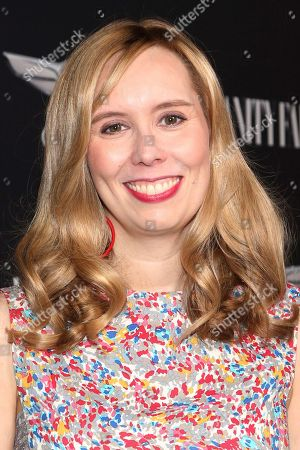 """Allison Schroeder arrives at the toast to the cast and filmmakers of """"Hidden Figures,"""" at Spago Restaurant, in Beverly Hills, Calif"""