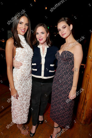 "Eiza Gonzalez, Hannah Minghella, President of TriStar Pictures, and Lily James seen at TriStar Pictures ""Baby Driver"" Los Angeles Premiere Sponsored by Subaru after party at Clifton's Cafeteria, in Los Angeles"