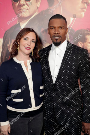 "Hannah Minghella, President of TriStar Pictures, and Jamie Foxx seen at TriStar Pictures ""Baby Driver"" Los Angeles Premiere Sponsored by Subaru at Ace Hotel Downtown Los Angeles, in Los Angeles"