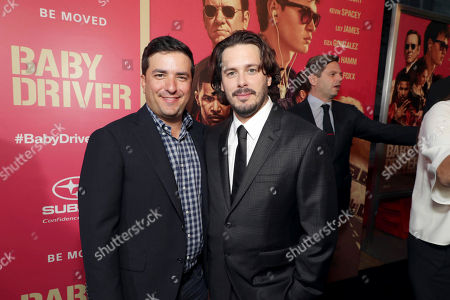 """Josh Greenstein, President of Sony Pictures Worldwide Marketing & Distribution, and Writer/Director/Executive Producer Edgar Wright seen at TriStar Pictures """"Baby Driver"""" Los Angeles Premiere Sponsored by Subaru at Ace Hotel Downtown Los Angeles, in Los Angeles"""