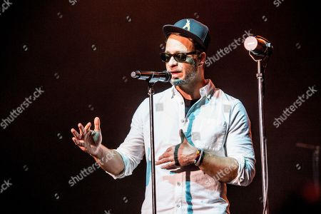Stock Image of Amos Lee performs with Trombone Shorty and Orleans Avenue at the Saenger Theatre, in New Orleans