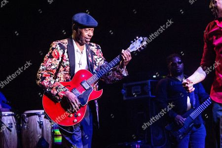 "Walter ""Wolfman"" Washington performs with Trombone Shorty and Orleans Avenue at the Saenger Theatre, in New Orleans"