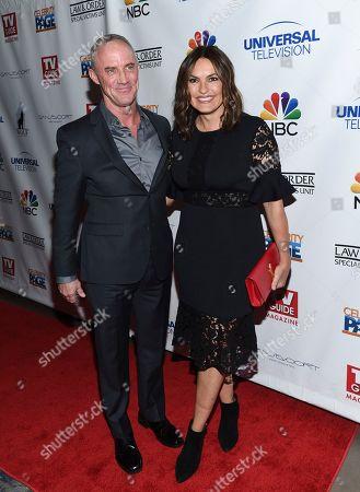 "Robert John Burke and Mariska Hargitay attend TV Guide Magazine's ""Law & Order: Special Victims Unit"" 400th episode celebration at the Gansevoort Park Avenue, in New York"