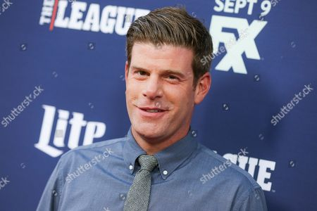"""Stephen Rannazzisi of """"The League"""" arrives at the Red Carpet Premiere Event of """"The League"""" and """"You're the Worst"""" in Los Angeles. Rannazzisi went on Howard Stern's satellite radio show Tuesday to apologize for lying about being in the World Trade Center during the Sept. 11 attacks. Rannazzisi lost a contract to do commercials for Buffalo Wild Wings in the wake of the revelation. He said the cast of """"The League"""" canceled an appearance at New York's Comic Con because they didn't want the story to be a distraction"""