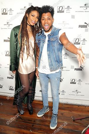 Stock Picture of Troi Irons and Zeale attend UMG's Music is Universal Artist Lounge Presented by O Organics and PUMA at SXSW on in Austin, Texas