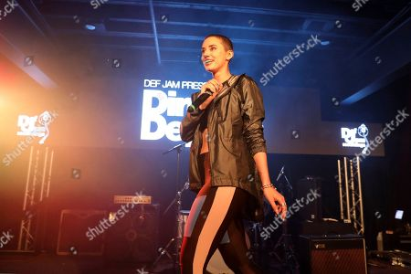 Stock Image of YesJulz performs during UMG's Music is Universal Showcase Presented by O Organics and PUMA at SXSW on in Austin, Texas