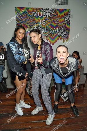 Sami Miro, YesJulz and 070 Shake attend UMG's Music is Universal Showcase Presented by O Organics and PUMA at SXSW on in Austin, Texas