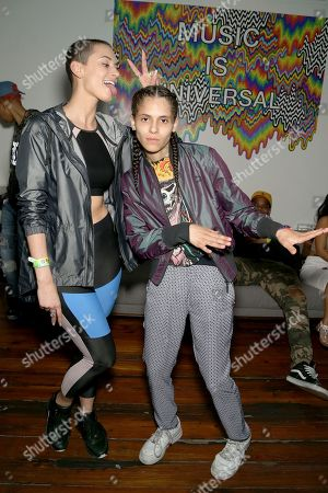 Stock Photo of YesJulz and 070 Shake attend UMG's Music is Universal Showcase Presented by O Organics and PUMA at SXSW on in Austin, Texas