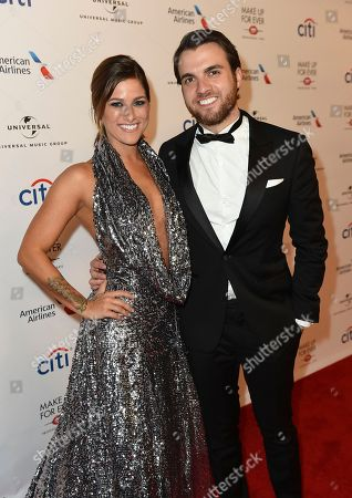 Stock Photo of Cassadee Pope and Robert Rian Dawson arrive at Universal Music Group's 2017 Grammy After Party at The Theatre at Ace Hotel, in Los Angeles