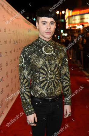 Stock Image of Leon Else arrives at Universal Music Group's 2017 Grammy After Party at The Theatre at Ace Hotel, in Los Angeles