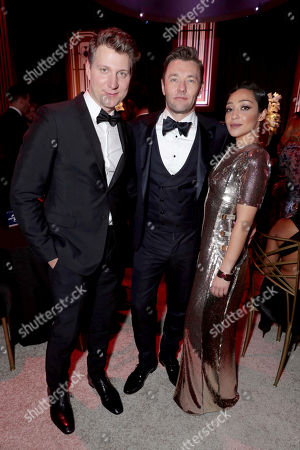Jeff Nichols, Joel Edgerton and Ruth Negga seen at Universal, NBC, Focus Features, E! Entertainment Golden Globes After Party Sponsored by Chrysler, in Beverly Hills, Calif